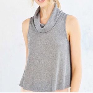 Urban Outfitters Sleeveless ribbed turtleneck top